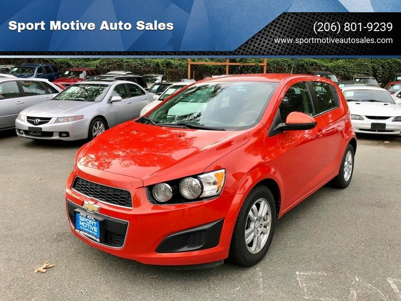 2012 Chevrolet Sonic for sale at Sport Motive Auto Sales in Seattle WA