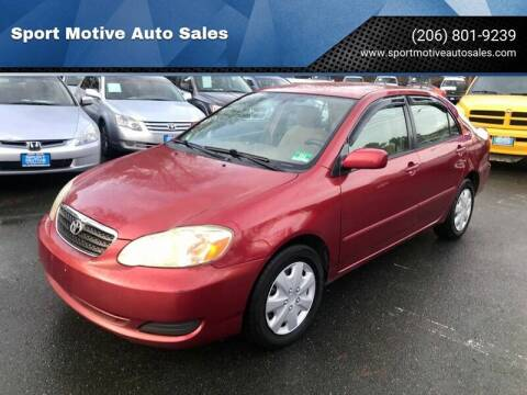 2007 Toyota Corolla for sale at Sport Motive Auto Sales in Seattle WA