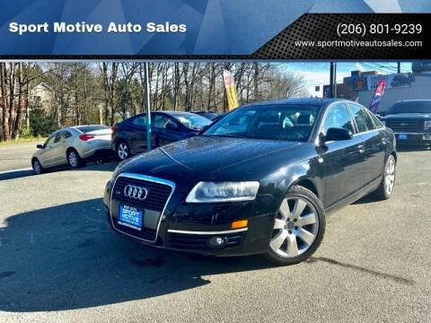 2006 Audi A6 3.2 quattro for sale at Sport Motive Auto Sales in Seattle WA