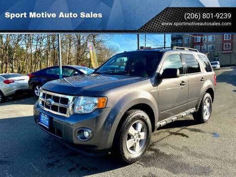 2010 Ford Escape XLT for sale at Sport Motive Auto Sales in Seattle WA