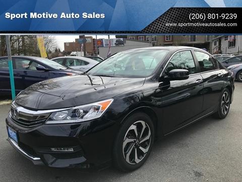 2016 Honda Accord EX for sale at Sport Motive Auto Sales in Seattle WA