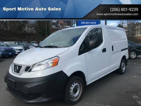2015 Nissan NV200 SV for sale at Sport Motive Auto Sales in Seattle WA