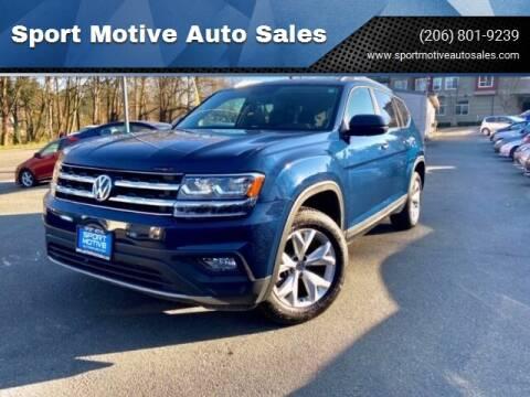 2018 Volkswagen Atlas V6 SE for sale at Sport Motive Auto Sales in Seattle WA