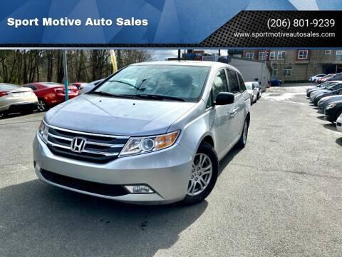 2013 Honda Odyssey EX-L w/DVD for sale at Sport Motive Auto Sales in Seattle WA