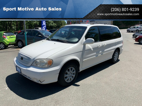 2005 Kia Sedona for sale at Sport Motive Auto Sales in Seattle WA