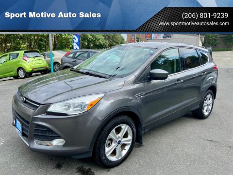 2013 Ford Escape for sale at Sport Motive Auto Sales in Seattle WA