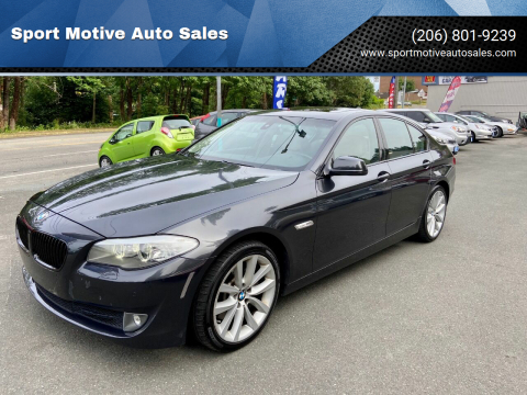 2011 BMW 5 Series for sale at Sport Motive Auto Sales in Seattle WA