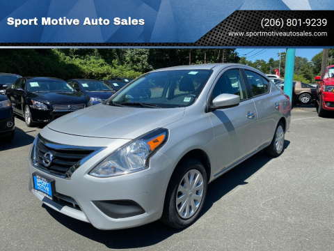 2017 Nissan Versa for sale at Sport Motive Auto Sales in Seattle WA