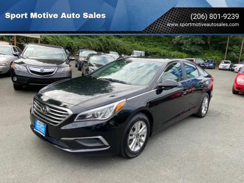 2016 Hyundai Sonata for sale at Sport Motive Auto Sales in Seattle WA