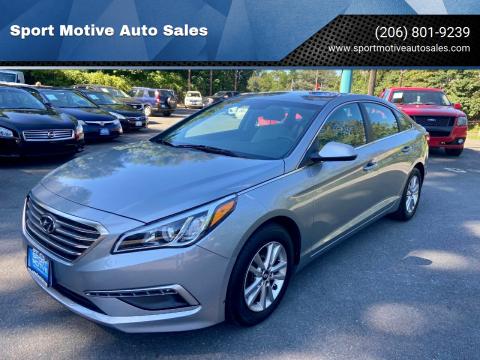 2015 Hyundai Sonata for sale at Sport Motive Auto Sales in Seattle WA