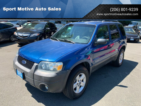 2007 Ford Escape Hybrid for sale at Sport Motive Auto Sales in Seattle WA