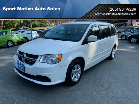 2012 Dodge Grand Caravan for sale at Sport Motive Auto Sales in Seattle WA