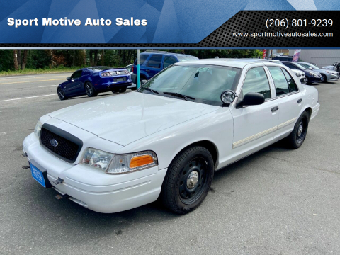 2009 Ford Crown Victoria for sale at Sport Motive Auto Sales in Seattle WA