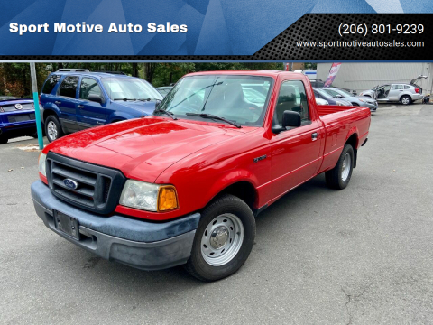 2004 Ford Ranger for sale at Sport Motive Auto Sales in Seattle WA
