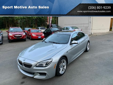 2017 BMW 6 Series for sale at Sport Motive Auto Sales in Seattle WA