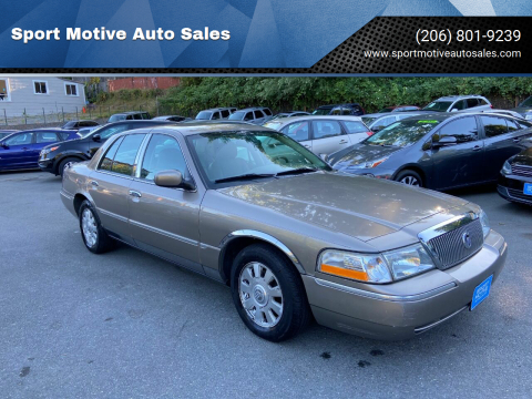 2005 Mercury Grand Marquis for sale at Sport Motive Auto Sales in Seattle WA