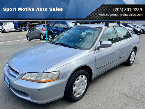 2000 Honda Accord for sale at Sport Motive Auto Sales in Seattle WA