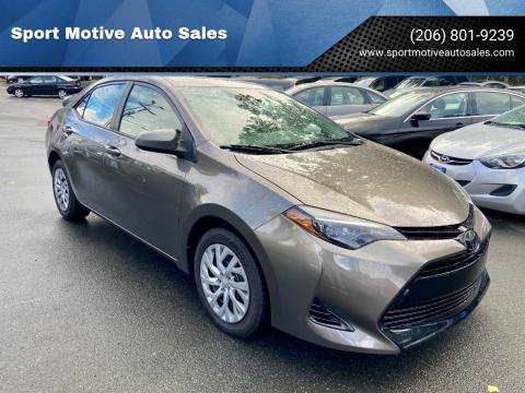 2018 Toyota Corolla for sale at Sport Motive Auto Sales in Seattle WA
