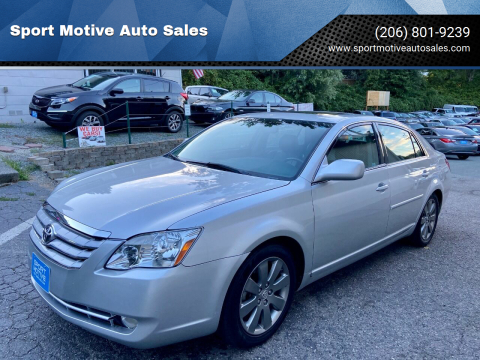 2007 Toyota Avalon for sale at Sport Motive Auto Sales in Seattle WA