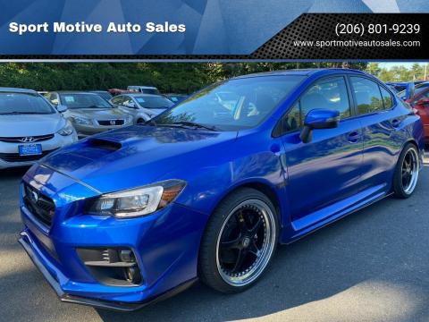 2015 Subaru WRX for sale at Sport Motive Auto Sales in Seattle WA