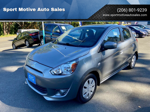 2015 Mitsubishi Mirage for sale at Sport Motive Auto Sales in Seattle WA