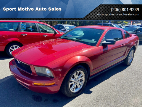 2007 Ford Mustang for sale at Sport Motive Auto Sales in Seattle WA