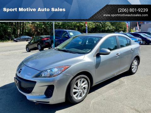 2012 Mazda MAZDA3 for sale at Sport Motive Auto Sales in Seattle WA