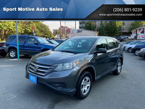 2013 Honda CR-V for sale at Sport Motive Auto Sales in Seattle WA