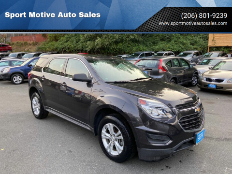 2016 Chevrolet Equinox for sale at Sport Motive Auto Sales in Seattle WA