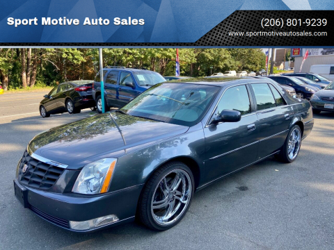 2010 Cadillac DTS for sale at Sport Motive Auto Sales in Seattle WA