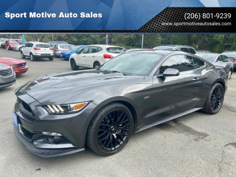 2016 Ford Mustang for sale at Sport Motive Auto Sales in Seattle WA