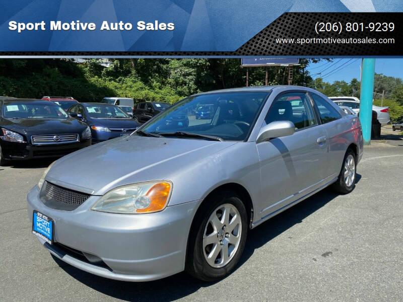 2001 Honda Civic for sale at Sport Motive Auto Sales in Seattle WA