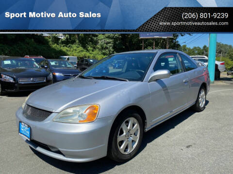 2001 Honda Civic for sale at Sport Motive Auto Sales in Seattle WA