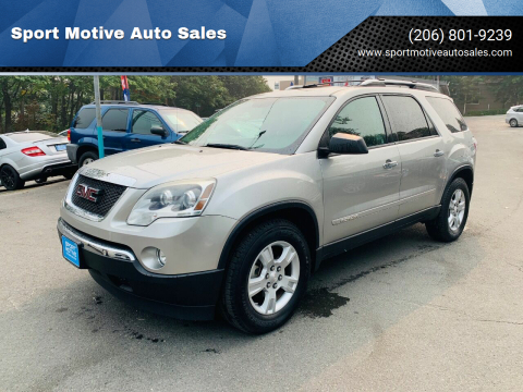 2008 GMC Acadia for sale at Sport Motive Auto Sales in Seattle WA