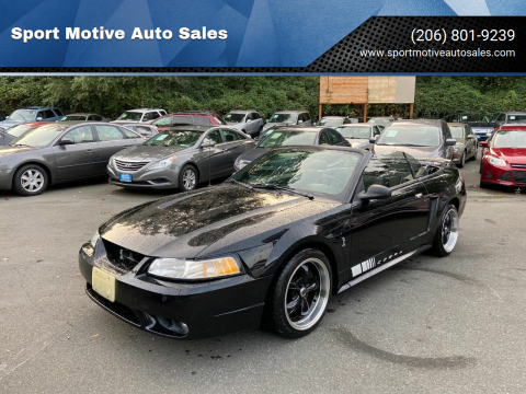 1999 Ford Mustang SVT Cobra for sale at Sport Motive Auto Sales in Seattle WA