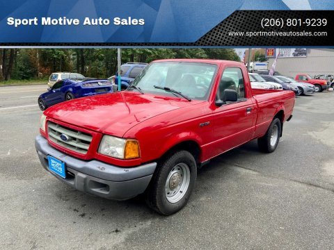 2003 Ford Ranger for sale at Sport Motive Auto Sales in Seattle WA