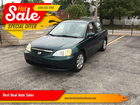 2002 Honda Civic for sale at Best Deal Auto Sales in Saint Charles MO