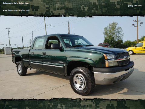 2004 Chevrolet Silverado 2500 for sale at Johnson's Auto Sales Inc. in Decatur IN