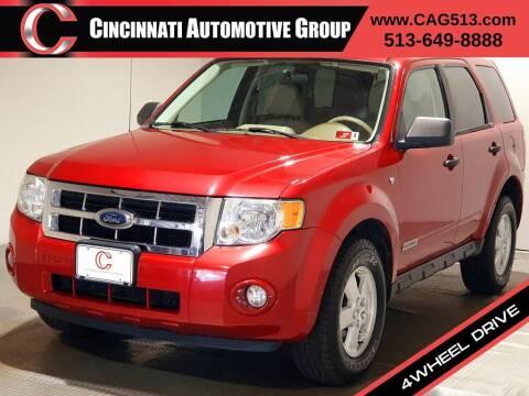 2008 Ford Escape for sale at Cincinnati Automotive Group in Lebanon OH