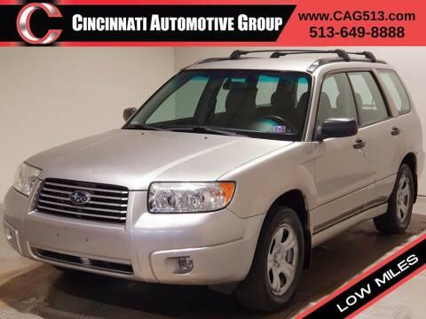 2007 Subaru Forester for sale at Cincinnati Automotive Group in Lebanon OH