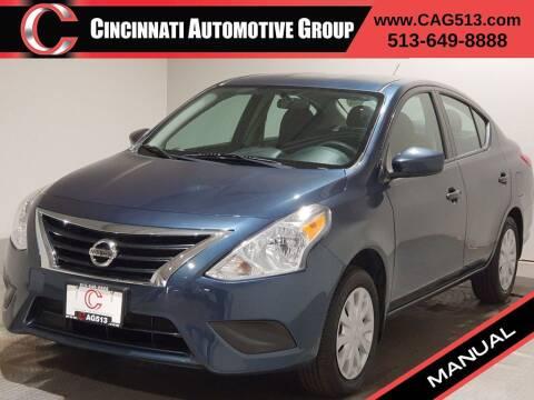 2017 Nissan Versa for sale at Cincinnati Automotive Group in Lebanon OH