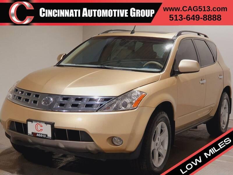 2003 Nissan Murano for sale at Cincinnati Automotive Group in Lebanon OH