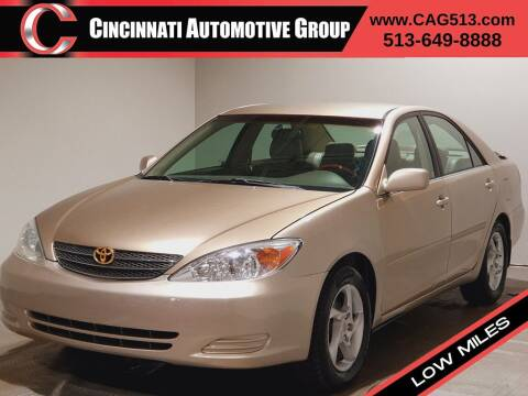 2003 Toyota Camry for sale at Cincinnati Automotive Group in Lebanon OH