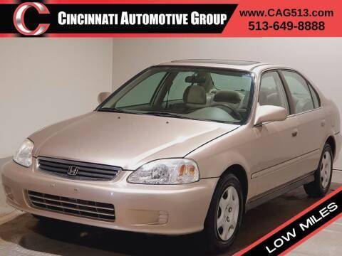 2000 Honda Civic for sale at Cincinnati Automotive Group in Lebanon OH