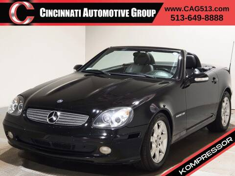 2001 Mercedes-Benz SLK for sale at Cincinnati Automotive Group in Lebanon OH