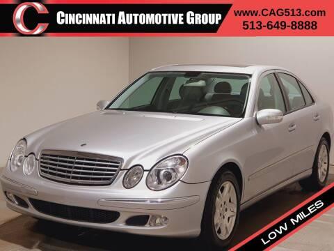 2004 Mercedes-Benz E-Class for sale at Cincinnati Automotive Group in Lebanon OH