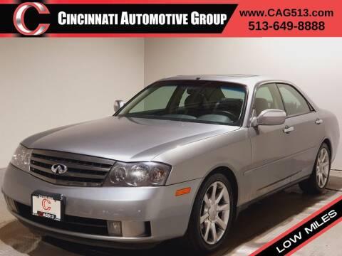 2004 Infiniti M45 for sale at Cincinnati Automotive Group in Lebanon OH