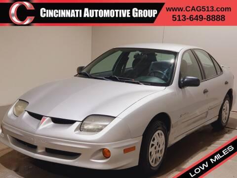 2002 Pontiac Sunfire for sale at Cincinnati Automotive Group in Lebanon OH