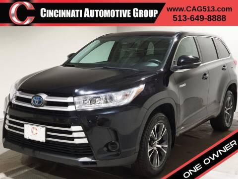 2018 Toyota Highlander Hybrid for sale at Cincinnati Automotive Group in Lebanon OH