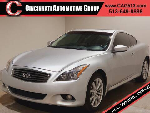 2012 Infiniti G37 Coupe for sale at Cincinnati Automotive Group in Lebanon OH